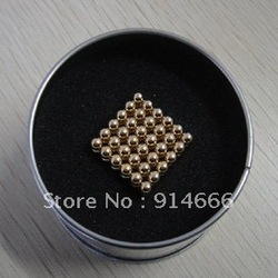 Holiday Sales D3mm Gold, magnetic ball, Neocube, bucky ball, magic Neo Cube, educational blocks, 216pcs/lot, Free shipping(China (Mainland))