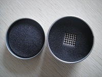 Holiday Sales D3mm magnetic ball, nickel color neo cube, 3mm magic cube, buckyballs, metal box package, Free shipping