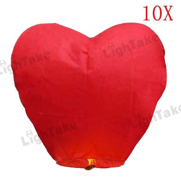 Red Heart Sky Lanterns Wishing Chinese Lantern for Birthday Xmas Party Wedding Baloes de Festa(China (Mainland))