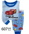 Free shipping 1PCS sell baby clothing Boys cartoon cars long sleeve pajamas Kids set children suit