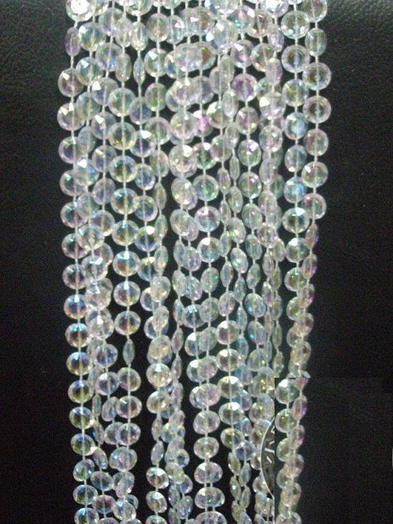livraison gratuite effacer diamant cut perles rideau de la. Black Bedroom Furniture Sets. Home Design Ideas
