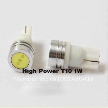 Free Shipping 8pcs T10 1W 194 168 SMD LED car light Bulbs White light high power car lamps