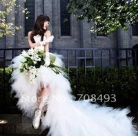 Free shipping front short and long back wedding dress sweetheart bridal wedding gown for princess wedding gowns new