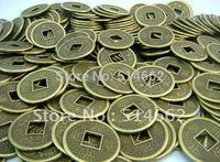 100PCS Feng Shui 1.7CM I-Ching dragon phoenix Coins
