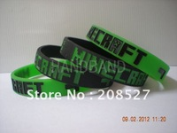 hot sell,Minecraft Creeper wristband, silicon bracelet, filled in colour, promotion gift, 1pcs/lot,free shipping