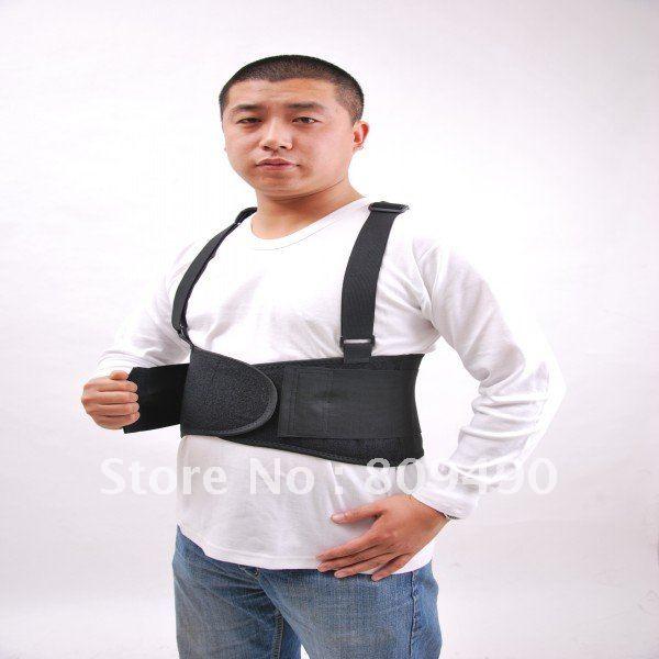 adjustable back waist brace lift heavy weight support belt(China (Mainland))