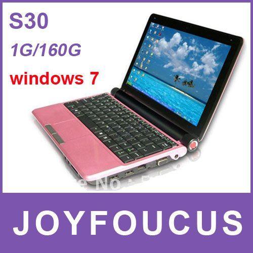 3pcs DHL free shipping 10.2 inch Mini Laptop+1GB RAM+160GB HDD+Intel Atom D25001.80GHz Netbook u ...