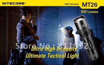Free shipping NITECORE MT26 CREE XM-L U2 800 lumens LED Flashlight Multi-Task series Torch