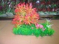 Free shipping newest turf tree  20 CM aquarium plastic plants in 4 colors