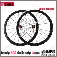 Light weight 1360g 700c carbon 38mm clincher wheels/racing road bike wheels