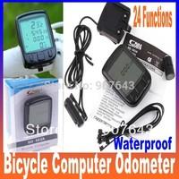 24 Functions Waterproof LCD Cycling Bike Bicycle Computer Odometer Speedometer Freeshipping