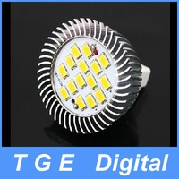 Free Shipping! 7W MR16 15 SMD 5630 LED Light Bulb 10-18V GU5.3 Spot Light Lamp Downlight Warm White Pure White