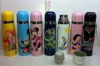 Genuine 500ml Kids Cartoon Thermos Bottle Mug Cup Stainless Steel Vacuum Kettle Outdoor Picnic Drinkware Hello Kitty Mickey