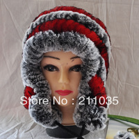 FREE SHIPPING  hot-selling straw hat rex rabbit skin wool ear protector cap fur hat fur one piece,R93