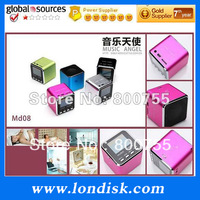 Mini portable speaker MD08,with LED screen.as a gift for friends 5pcs/lot Free shipping