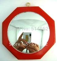 Feng Shui Convex Red Wood Bagua Mirror Pakua 4 Inch /Bagua Mirror