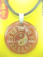Feng Shui Agate Bagua Necklace Amulet Pendant