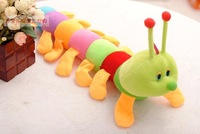 Factory price Children's toys baby colorful caterpillarsplush toy doll wedding present lovers hold pillow toys  FREE SHIPPING