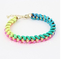 Min Order $10 Fashion Summer Charm Gold Rope Bracelet for Women