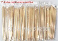 "New 2014 free shipping 15 Sizes 8"" 20cm Double Point Knitting Bamboo Needles  every size 5pcs"