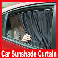 2013  new  2pcs/lot Hot selling aluminum alloy car curtain sun-shading auto curtain Free Shipping