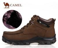 2014 Men Casual Camel skateboard Plus Size Genuine Leather boots Flat rabbit fur plush tooling Shoes Big Size 38-48 men flats