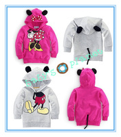 2014 new freeshipping Minnie Mickey Mouse hoody children sweatshirt girl boy hoody coat cartoon clothing long sleeve tee 5pcs/l