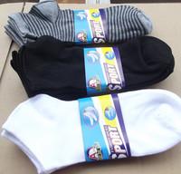 wholesale- Men's Socks new 12airs/lot Check Logo short cotton socks port Ankle  man Socks student socks white black
