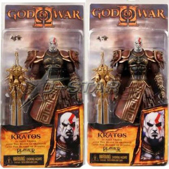 "Free Shipping NECA Cool 7.5"" God of War Kratos in Ares Armor with The Blade of Olympus PVC Game Action Figure Model Collection"