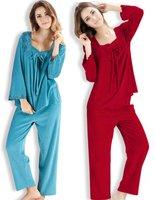 free shipping Autumn sleepwear suit female long-sleeve coral fleece pajamas set high quality velvet plus size XXL lounge ladies