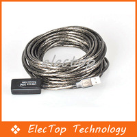 Free shipping 30FT 10M USB 2.0 Extension Repeater Cable Male to Female Built-in IC 50pcs/lot Wholesale