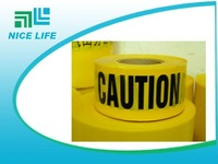 """Yellow Blackground Black Letter  Barricade Tape size 3"""" x 1000ft"""