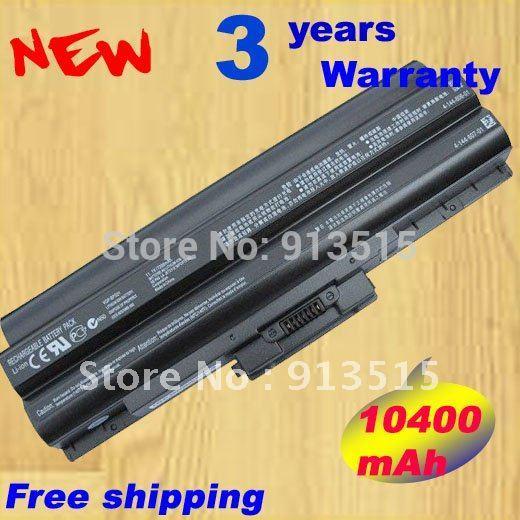 10400mAh 12cells BPS21 laptop battery VGP-BPL21 VGP-BPS21 VGP-BPS21A/B for Sony Black (without CD) Free shipping(China (Mainland))