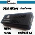 Dual Core MK808 MINI PC with Android 4.1 tablet pc Rockchip RK3066 1GB/8GB 1.6GHz Android TV BOX