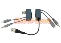 free shipping !1Pair,high quality UTP CCTV Video Audio Power Balun BNC Cat5 Transceiver