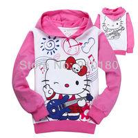 Wholesale 6pcs/lot baby girls spring autumn HELLO KITTY children sweatshirt /kids hoodies/girls hoody