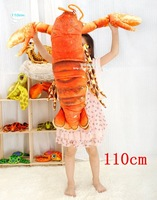 Free Shipping 110cm Simulation Red Lobster Creative Plush Toy Pillow Home Decor Child Birthday Gift 1 Pcs