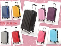 Fashion Abs universal wheels trolley luggage pc black travel bag luggage 20 24 28