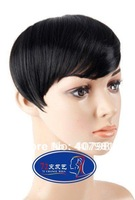 synthetic clip in on neat bang hair fringe color 1B off black free shipping