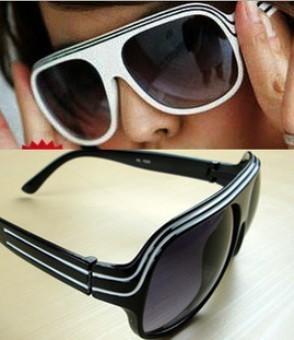 100% UV Resistance material Dual Stripe Retro Sunglasses Vintage Eyewear glasses free shipping 008