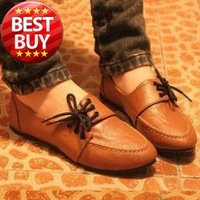 2013 NEW High quality  Women shoes for Lady fashion flat shoes & Brown