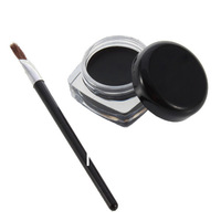 Black Pro Eye Liner Eyeliner Shadow Gel Makeup Cosmetic and Brush Free Shipping