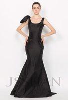 11P184 Two Shoulder Straps Scoop Neck Bowknot Mermaid Elegant Gorgeous Luxury Unique Brilliant Evening Dress Ball Dresses