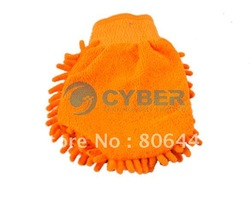Free shipping 10pcs/Lot Super Mitt Microfiber Household Car Wash Washing Cleaning Glove 4396(China (Mainland))