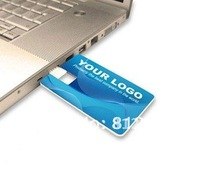 DIY Credit  Card USB Flash Drive Free Print any LOGO for you 1GB2GB/4GB/8GB