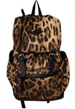 HOT! Free Shipping Lady Leopard Print Backpack vintage bag Lady Handbag fashionable casual travel bag student school bag