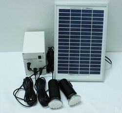 Green energy Solar system 5W solar panel + battery + two Led lighting systems, home indoor/outdoor lighting system(China (Mainland))