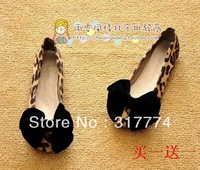 shes women, shoes women Free shipping Lady 2013 leopard head shoes new single bowknot shoes pointed flat flat heel women shoes