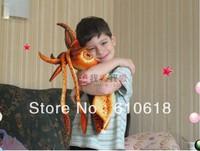2013 Free Shipping New Creative 80cm Squid Lucky Fish Super Soft Plush Toy Cushion Pillow Children Birthday Gift Car Decor