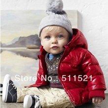 Winter of red light fabric cotton-padded jacket children baby winter cotton coat(China (Mainland))